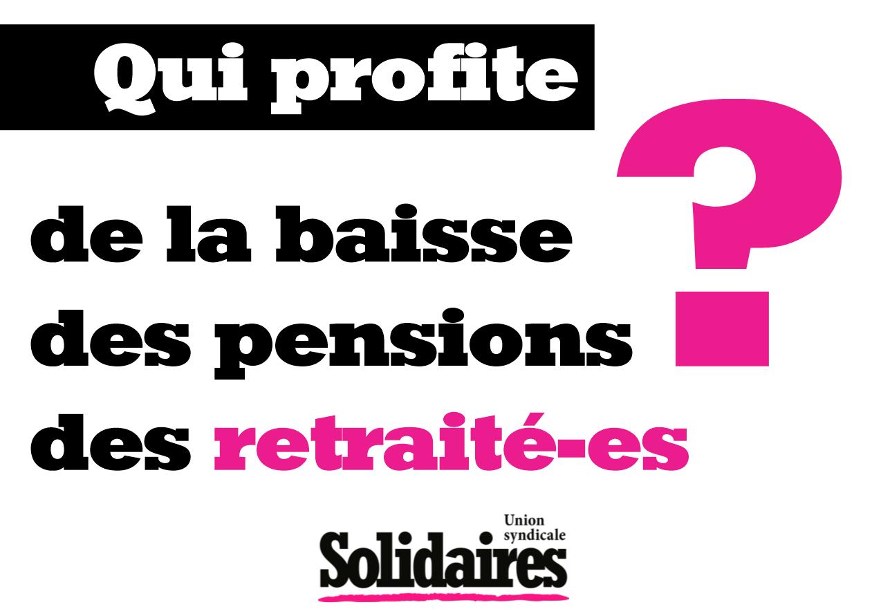 Qui profite pension des retraitees