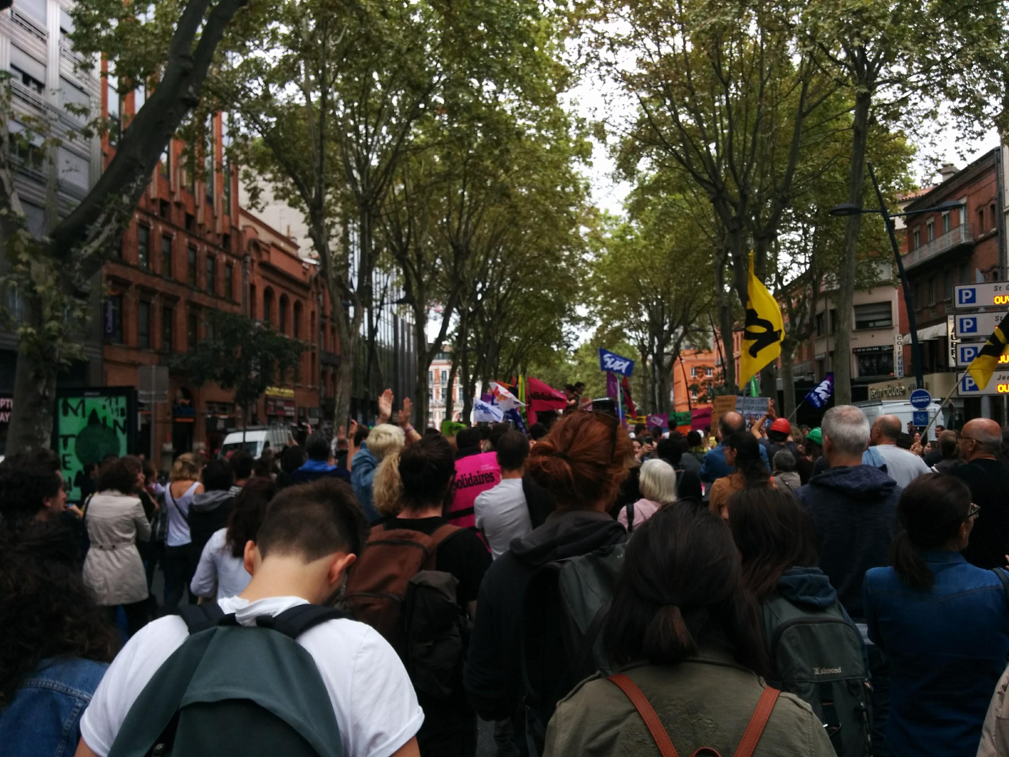 Toulouse, plus de 10 000, privé, public, contre les ordonnances.